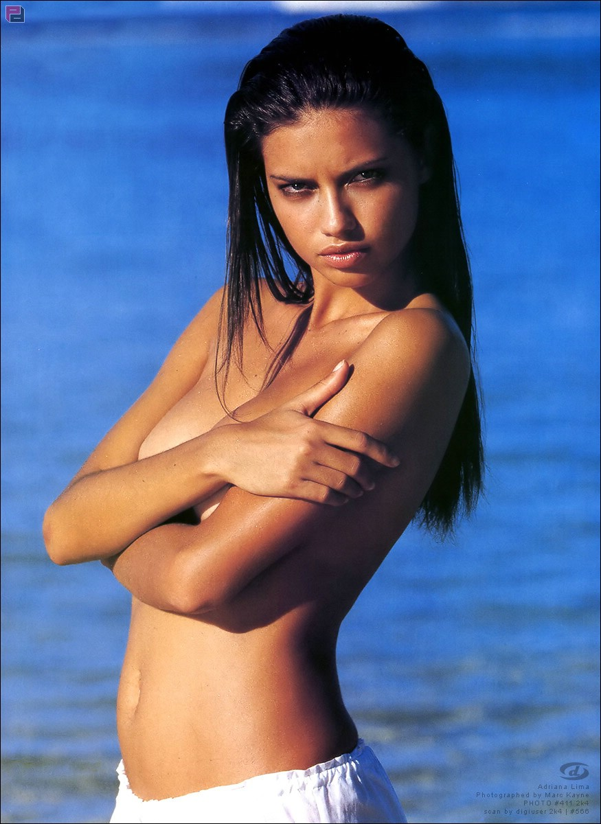 Andrea Lima Nude adriana lima braless cover her tits