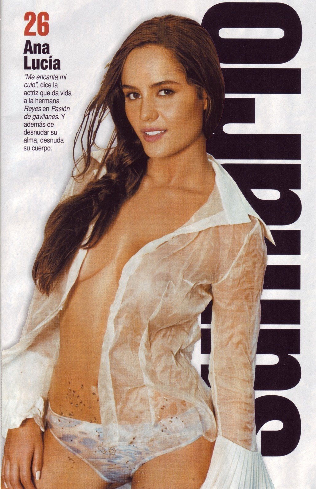 Ana Lucia Dominguez Nude ana lucia dominguez in see through white blouse