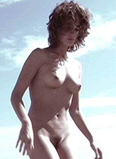 Fit blonde woman naked