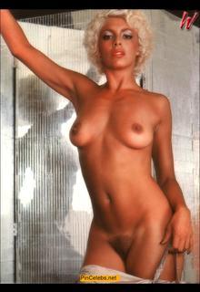 Nadia Cassini nude boobs and hairy pussy