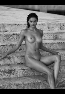 Vika Levina fully nude for Treats! Magazine
