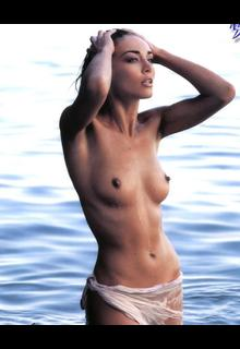 Vanessa Kelly topless in a water