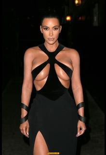 Kim Kardashian almost nude boobs at the 5th Annual Hollywood Beauty Awards