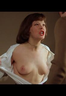 German actress Katrin Sass exposed her nude breasts in Bis dass der Tod euch scheidet