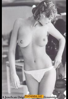 Natasha Henstridge topless black-&-white photo