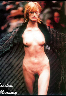 Kristen McMenamy nude tits and pussy runway photo