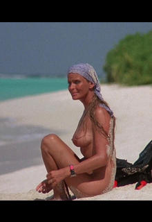 Bo Derek nude on a beach in Ghosts can't do it