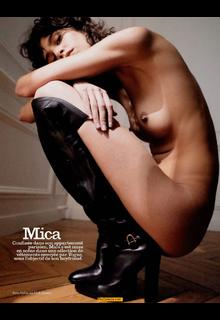 Mica Arganaraz nude for Vogue Magazine, Paris - July 2020